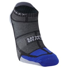 Hilly Unisex Twin Skin Socklet | Black / Electric Blue