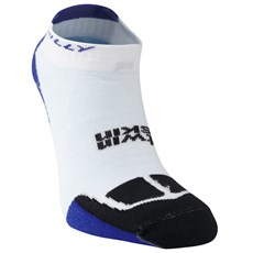 Hilly Unisex Twin Skin Socklet | White / Electric Blue