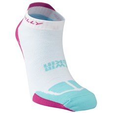 Hilly Women's Twin Skin Socklet | White / Fluo Pink