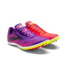 Brooks Women's Mach 18 Spike | Fiery Coral / Electric Purple