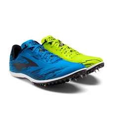 Brooks Men's Mach 18 Spike | Nightlife / Brite Blue