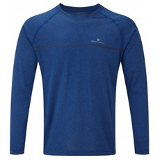 Ron Hill Men's Everyday LS Tee | Cobalt marl