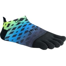 Injinji Unisex Run LW No Show | Abstract Lime / Blue