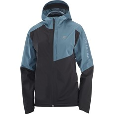 Salomon Womens Bonatti Trail WP Jacket | Black / Mallard Blue