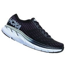 Hoka Women's Clifton 5 Knit | Black / White