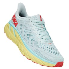 Hoka Women's Clifton 7 Wide | Morning Mist / Hot Coral