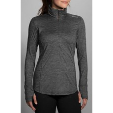 Brooks Women's Dash 1/2 Zip | Heather Asphalt