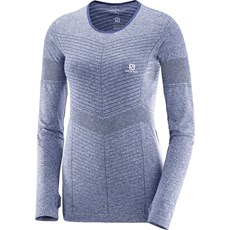 Salomon Women's Elavate Seamless LS Tee | Medieval Blue