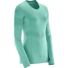 Salomon Women's Elavate Seamless LS Tee | Dynasty Green