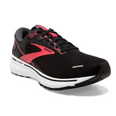 Brooks Womens Ghost 14 Wide | Black / Coral