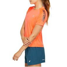 Asics Women's Icon Tee | Flash Coral / Magnetic Blue