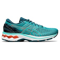 Asics Women's Kayano 27 | Techno Cyan / Sunrise Red