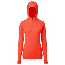 Ron Hill Women's Life Seamless Hoodie | Hot Coral Marl