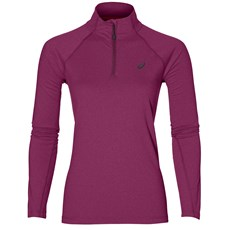 Asics Women's LS 1/2 Zip Jersey | Prune Heather
