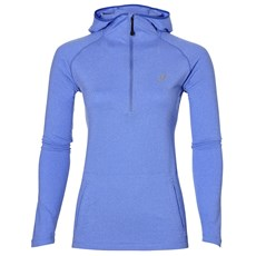 Asics Women's LS Hoodie | Blue Purple Heather