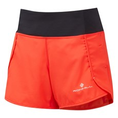Ron Hill Women's Revive Short | Hot Coral / Bright White