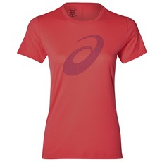 Asics Women's Silver Graphic SS Tee | Flash Coral