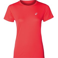 Asics Women's Silver SS Tee | Flash Coral