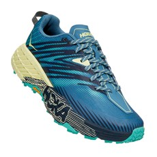 Hoka Women's Speedgoat 4 | Provincial Blue / Luminary Green