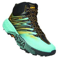 Hoka Women's Speedgoat Mid GTX | Antigua Sand / Golden Rod