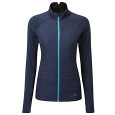 Ron Hill Women's Tech Hybrid Jacket | Deep Navy / Spa Green
