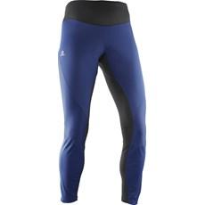 Salomon Women's Trail Runner WS Tight | Medieval Blue / Black