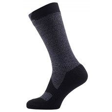 Sealskinz Walking Thin Mid Sock | Dark Grey / Black