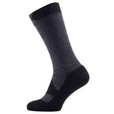 Sealskinz Walking Thin Mid Sock | Dark Grey / Black