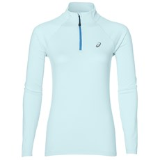 Asics Women's Core LS 1/2 Zip Jersey | Aqua Splash Heather