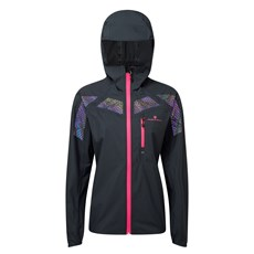 Ron Hill Women's Infinity Nightfall Jacket | Black / Azalea Reflect