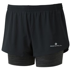 Ron Hill Women's Infinity Twin Short | Black / Charcoal Marl
