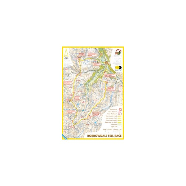 Harvey Borrowdale Race Map