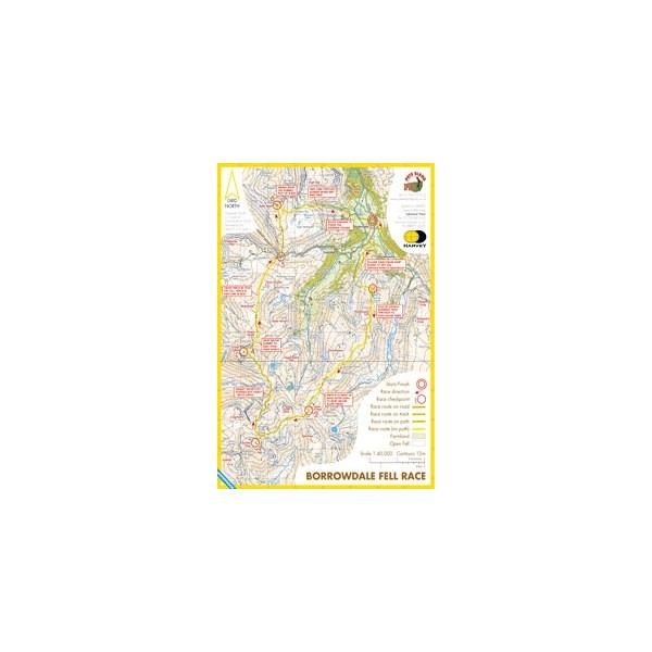 Harvey Borrowdale Race Map