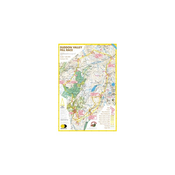 Harvey Duddon Valley Race Map