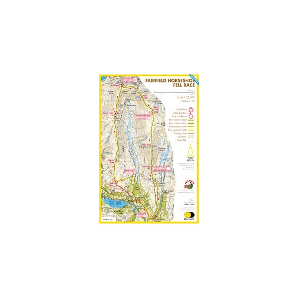 Harvey Fairfield Horseshoe Race Map