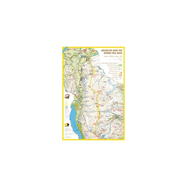 Harvey Helvellyn & The Dodds Race Map
