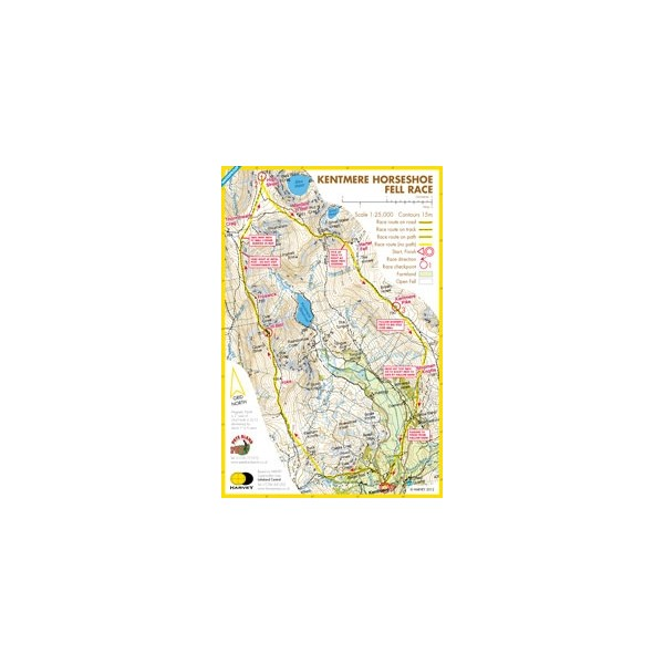 Harvey Kentmere Horseshoe Race Map