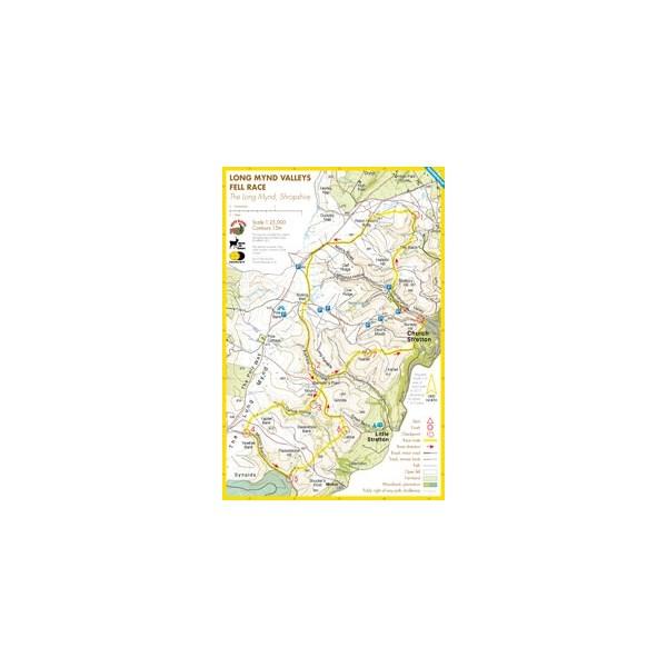 Harvey Long Mynd Valleys Race Map