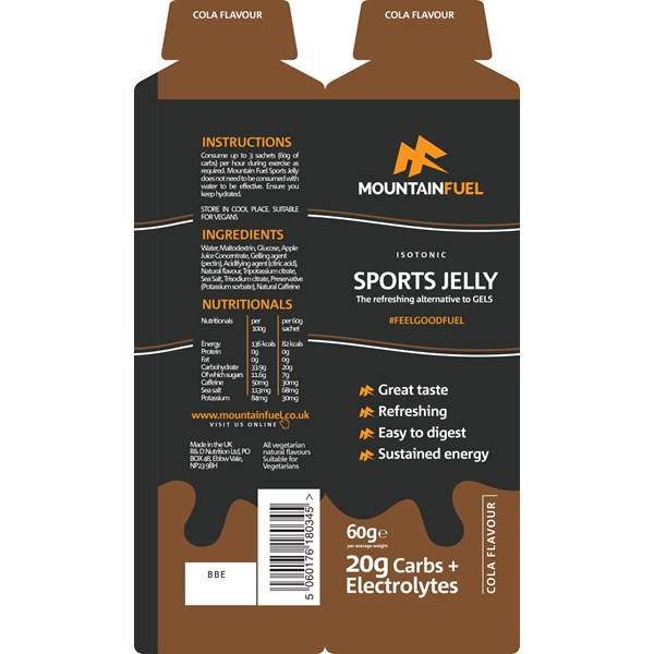 Mountain Fuel Sports Jelly (Cola with Caffeine)