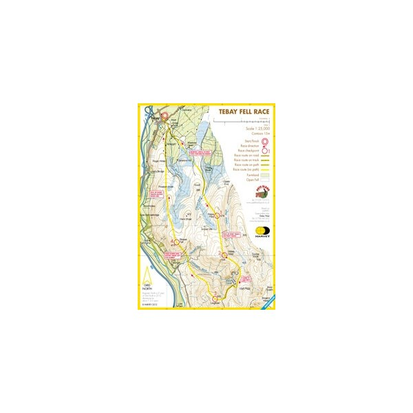 Harvey Tebay Race Map