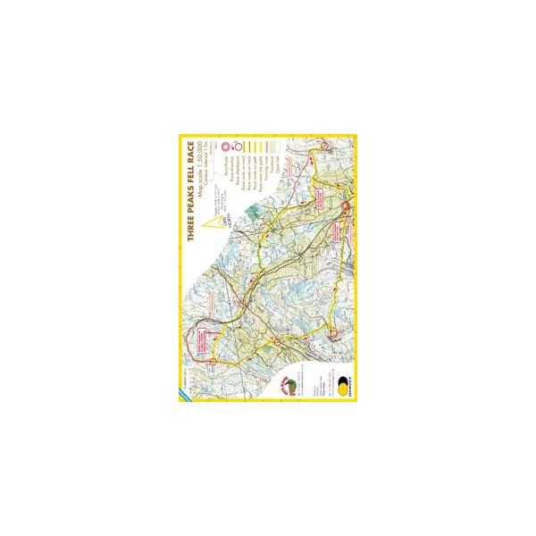 Harvey Three Peaks Race Map
