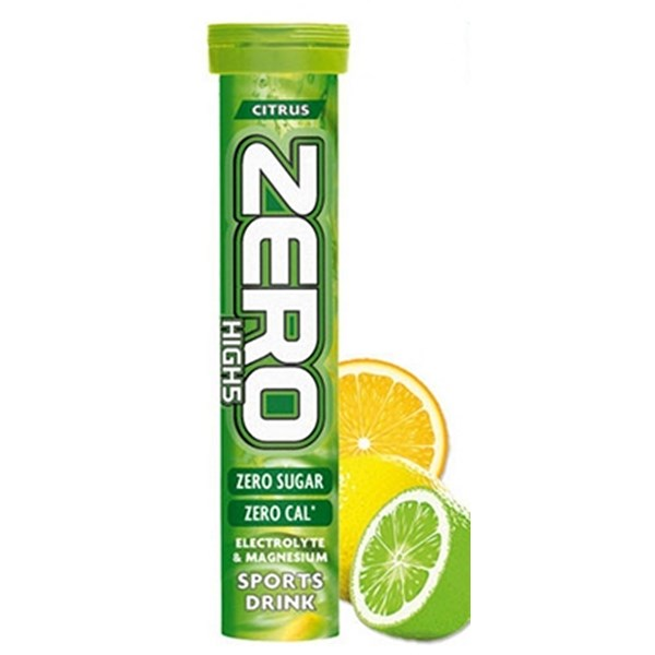 High5 Race Run Bottle with Zero 10 Tube Citrus on Lime