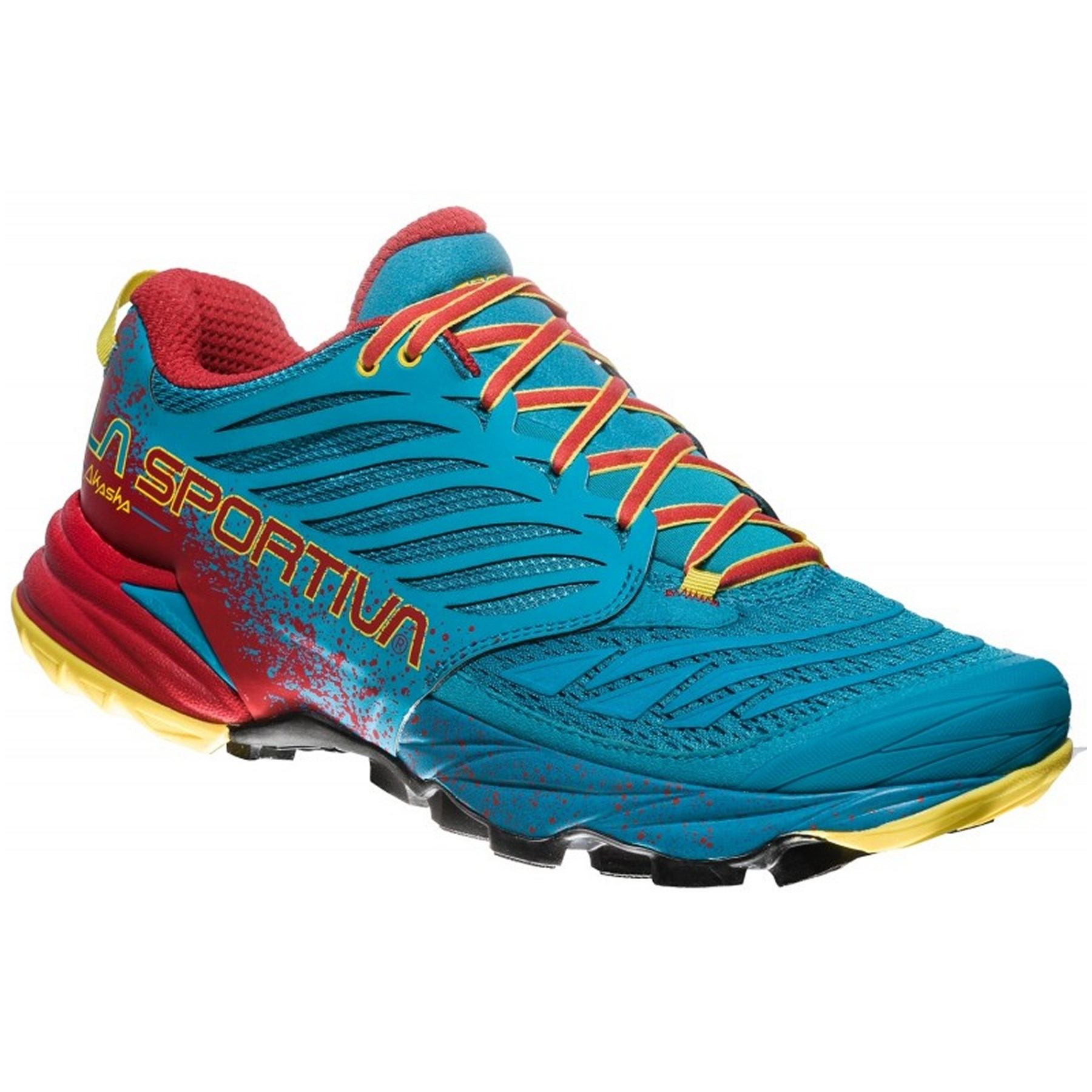La Sportiva AKASHA - Trail running shoes - tropic blue/cardinal oTxbgtMd