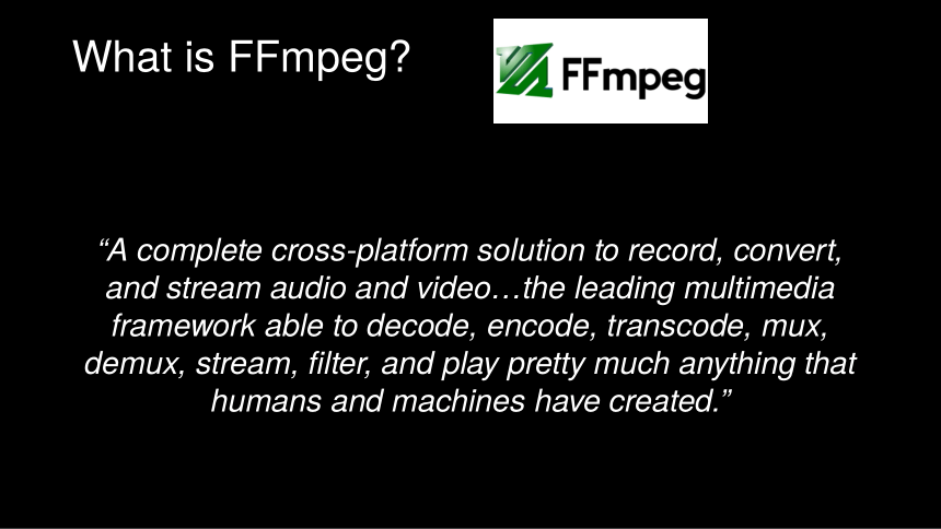 Introduction to FFmpeg