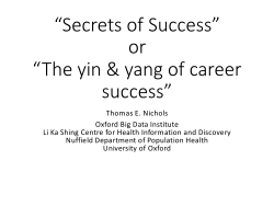 'Secrets of Success' or 'The yin and yang of career success'