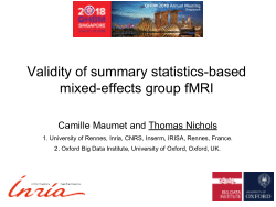 Validity of summary statistics-based mixed-effects group fMRI