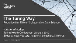 The Turing Way: Reproducible, Ethical and Collaborative Data