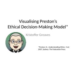 Visualising Preston's Ethical Decision-Making Model