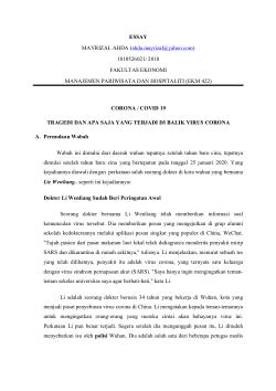Essay Dampak Fenomena Covid 19