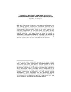"""designing and implementing e procurement The aim of this guide is to provide information on and assistance with key aspects of designing and implementing national eprocurement reform project the advice presented in the guide arises from the principles of the mdbs' """"handbook on e- government procurement"""", as published by the asian."""